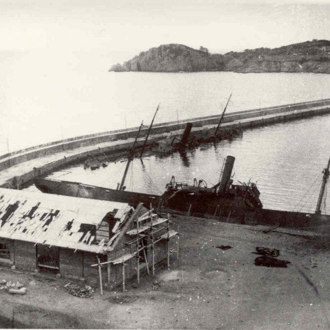 Febrer de 1938, els bombardejos del port de Sant Feliu